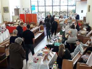 St benedicts church hall during a winter fayre